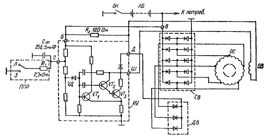 Электрическая схема генераторной установки
