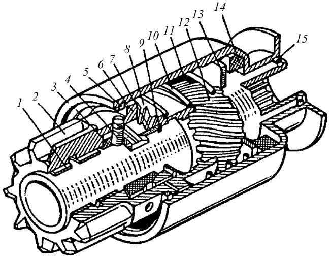 Приводной механизм с храповой муфтой свободного хода