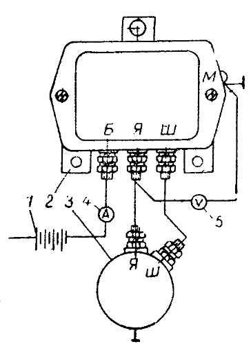 Схема проверки реле обратного тока