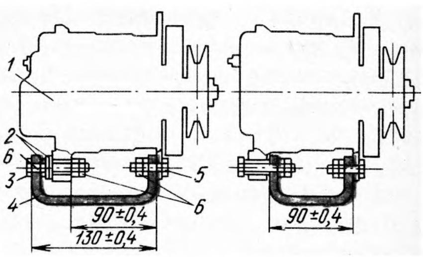 Схемы установки генератора 54.3701