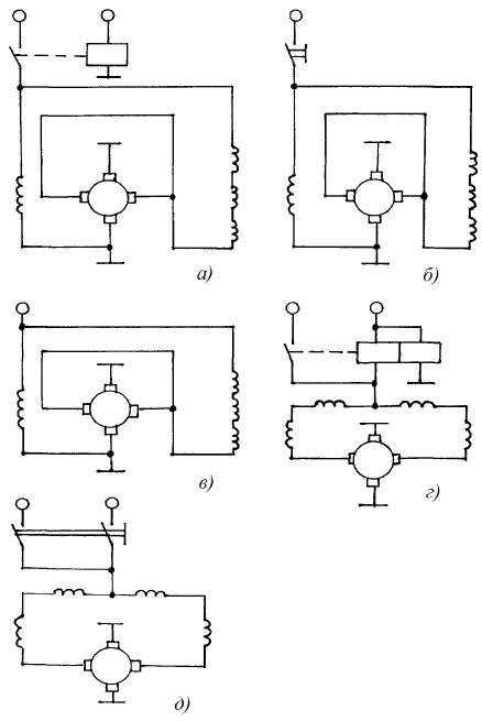 Схемы внутренних соединений в тракторных стартерах