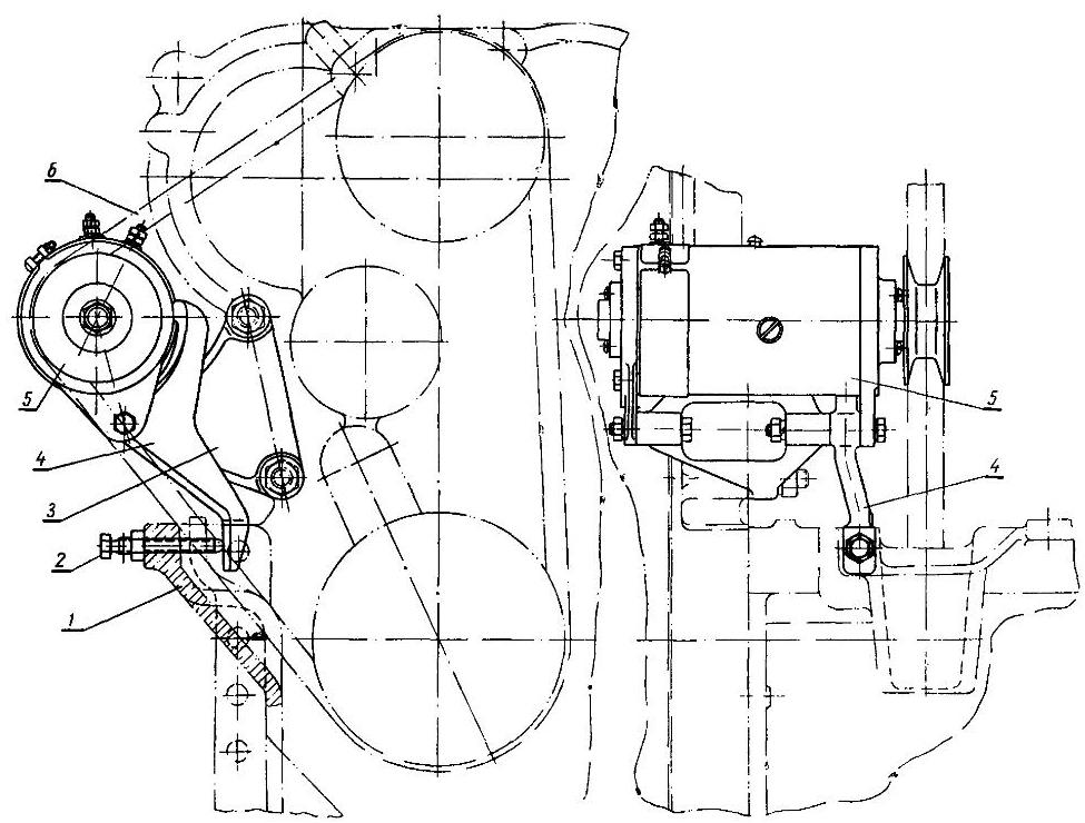 Устанока генератора на трактор