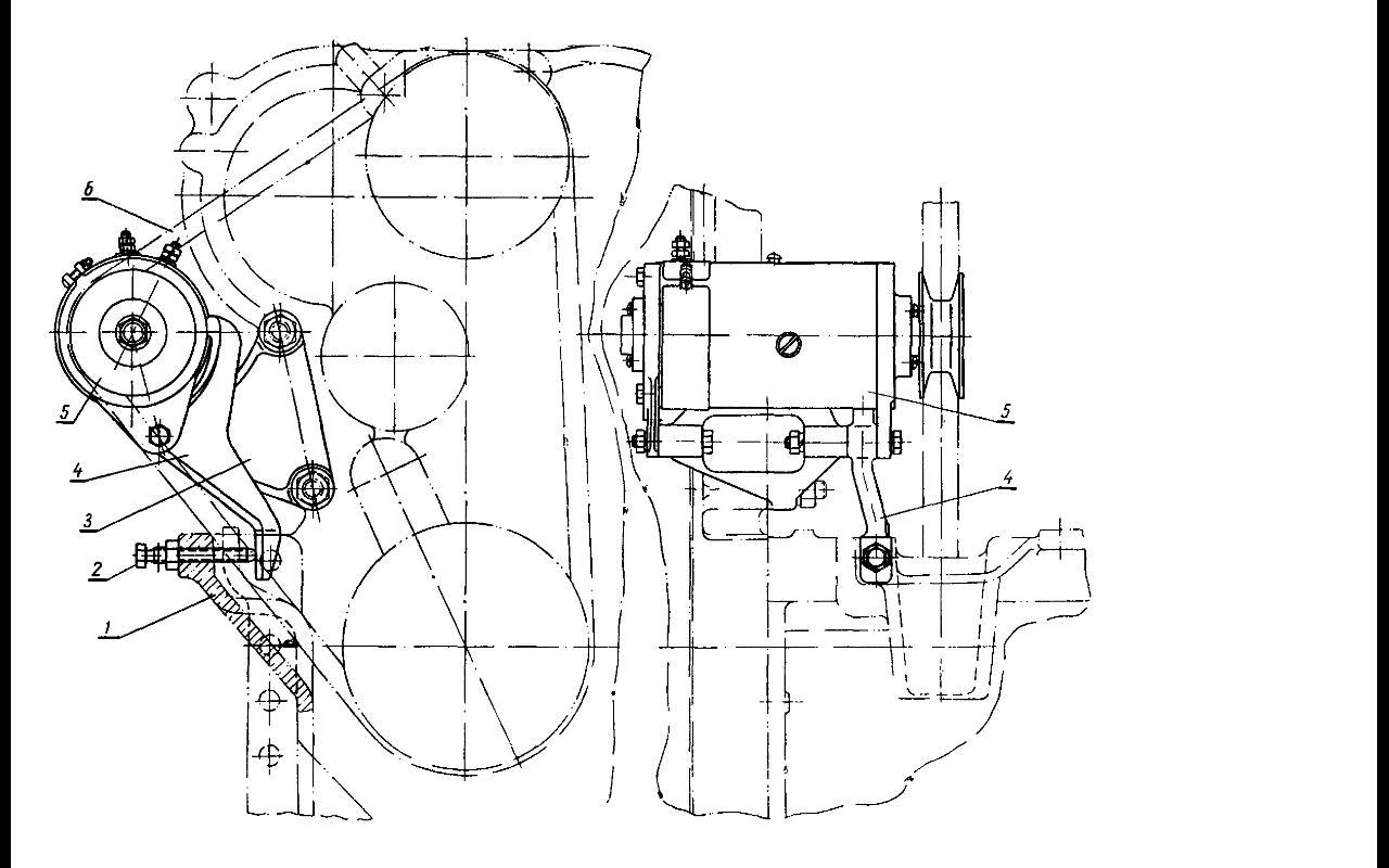 Установка генератора на трактор ДТ-20