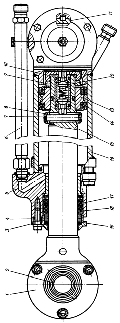 Гидроцилиндр передней навесной системы трактора Т-130М