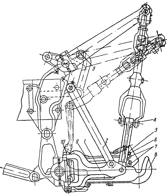 Т-150, Т-150К. Гидрофицированный тяговый крюк