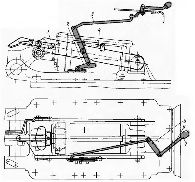 МТЗ-100, МТЗ-102. Механизм фиксации навесного устройства