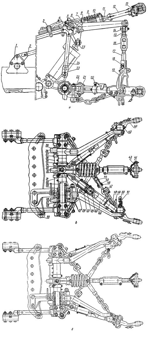 Трактор ДТ-75. Механизм навески