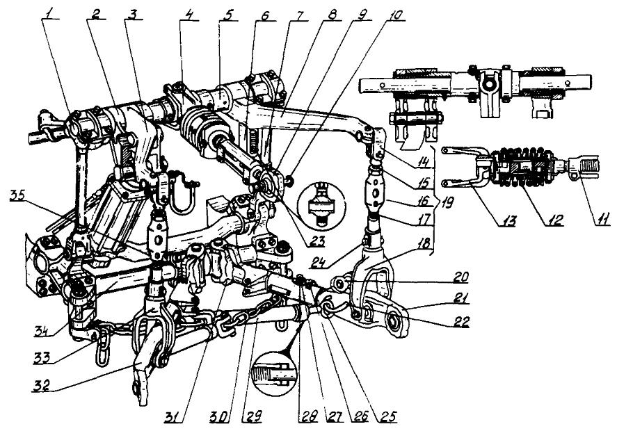 Трактор ДТ-75Н. Навесное устройство