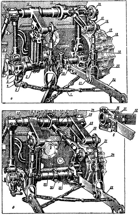 Трактор ДТ-54А. Навесной механизм