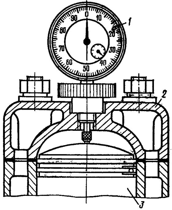 Определение положения поршня пускового двигателя в в.м.т.