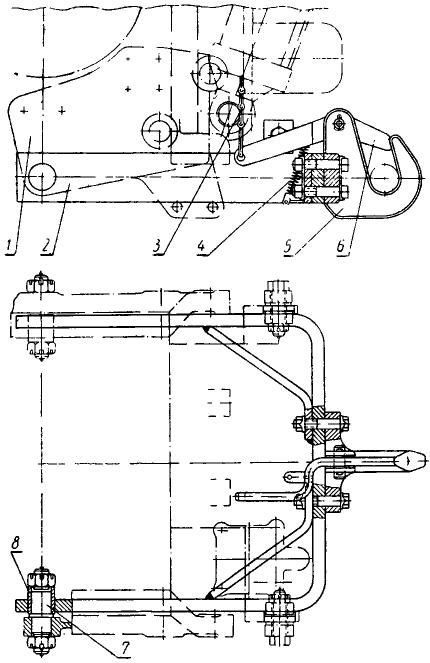 Трактор ДТ-20. Прицепное устройство
