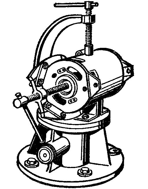 Разборка генератора на поворотном столе