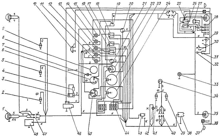 Схема электрооборудования трактора ДТ-175С