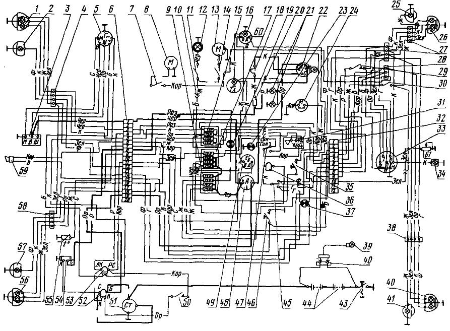 Схема электрооборудования тракторов МТЗ-80 и МТЗ-82