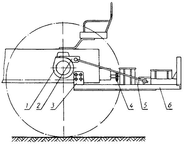 Схема навешивания рамы опрыскивателя на трактор Т-25