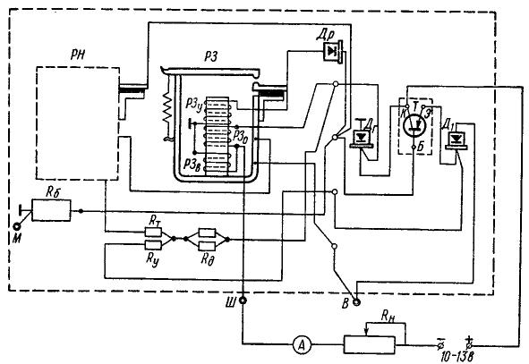 Схема проверки реле защиты на стенде
