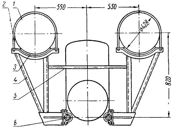 Установка передних кронштейнов резервуаров на трактор Т-25