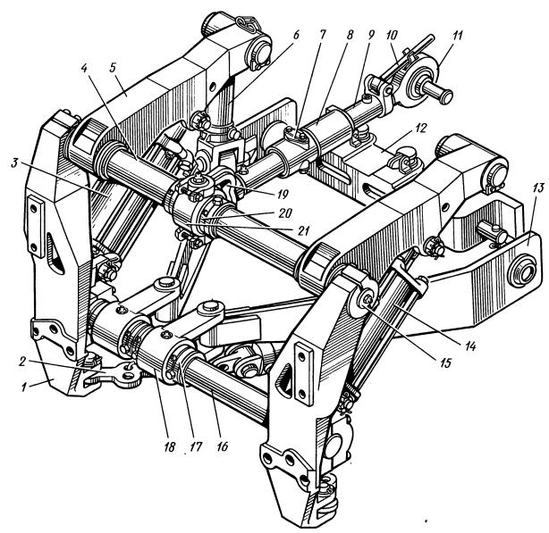 Задний механизм навески трактора Т-130М